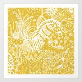 Yellow nature Art Print