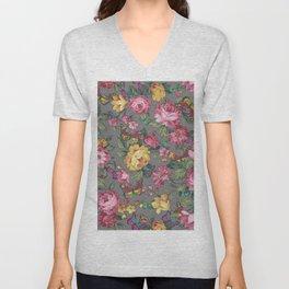 butterflies & roses Unisex V-Neck
