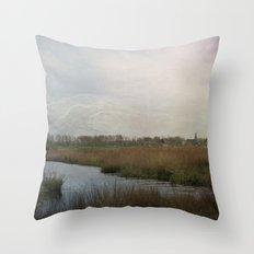 Flat Land Throw Pillow
