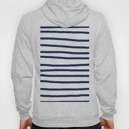 Simply Drawn Stripes in Nautical Navy Hoody