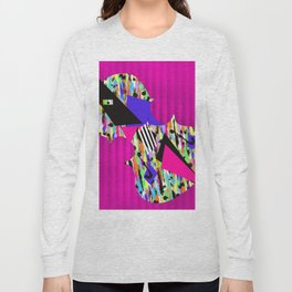Cello Abstraction on Hot Pink Long Sleeve T-shirt