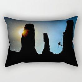 Rock Climbing Mountaineer Rectangular Pillow
