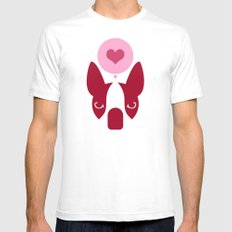 Boston Terrier Thoughts: Love. Mens Fitted Tee White SMALL