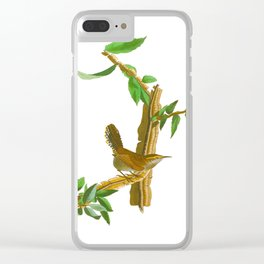 BEWICK'S LONG TAILED WREN Clear iPhone Case