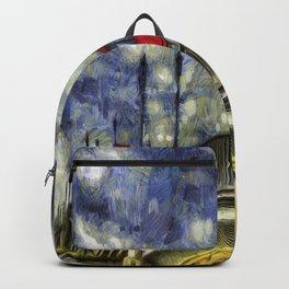 Battersea Bridge London Van Gogh Backpack