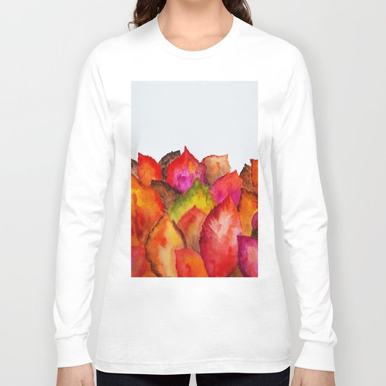 Autumn abstract watercolor 01 Long Sleeve T-shirt