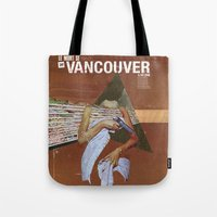 vancouver Tote Bags featuring Locals Only - Vancouver by Matthew Billington