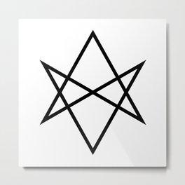 Unicursal hexagram Metal Print