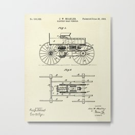 Electric Road Vehicle-1893 Metal Print