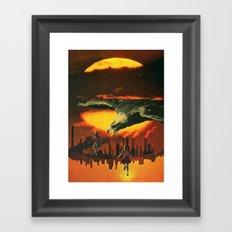 Girls at Sunset (2014) Framed Art Print