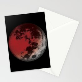 Red Moon Eclipse Stationery Cards