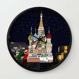 Love at the Moscow Kremlin Wall Clock