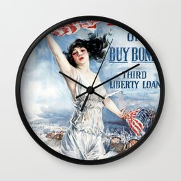 Fight or Buy Bonds Wall Clock