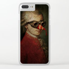 Surreal Steampunk Mozart Clear iPhone Case