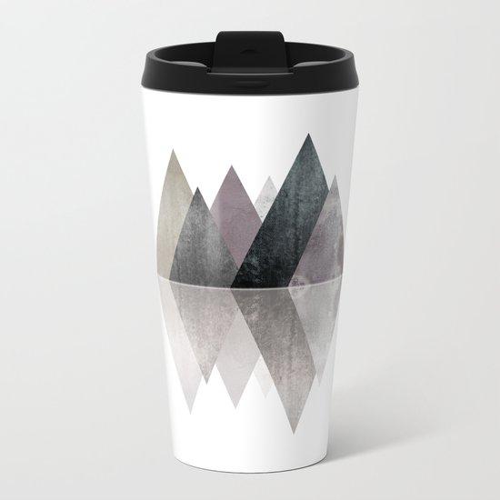 Modern Scandinavian Mountain Metal Travel Mug