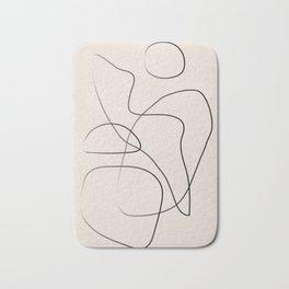 Abstract Line I Bath Mat