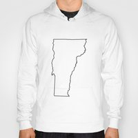 vermont Hoodies featuring Vermont by mrTidwell