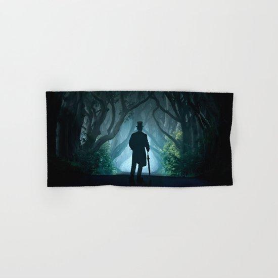 Morning visit in cold Dark Hedges Hand & Bath Towel