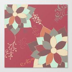Morrocan Flowers Canvas Print