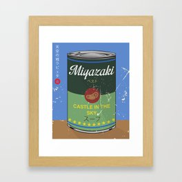 Castle in the sky - Miyazaki - Special Soup Series  Framed Art Print