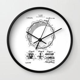 patent art Barry Tambourine 1922 Wall Clock