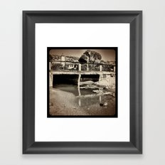 Sewage. Framed Art Print