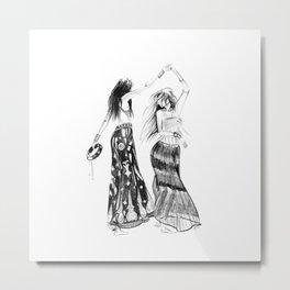 Tribe | Fashion Illustration Metal Print
