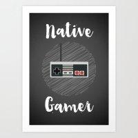 Native Gamer Art Print