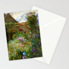 A Garden in Spring by Anna Lea Merritt Stationery Cards
