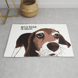 Bitch Please.  I'm Fabulous.  Beagle Dog. Rug