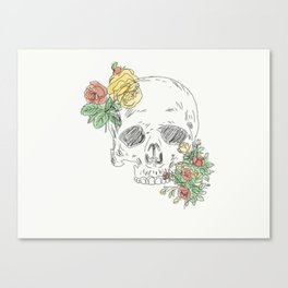 Floral Skull Canvas Print
