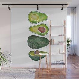Avocado Slices Wall Mural