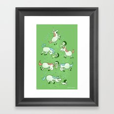 Angry Unicorns Framed Art Print