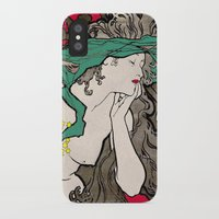 mucha iPhone & iPod Cases featuring Vintage Alphonse Mucha Poster Girl by Iconographique