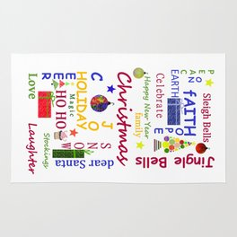 Christmas Message Rug