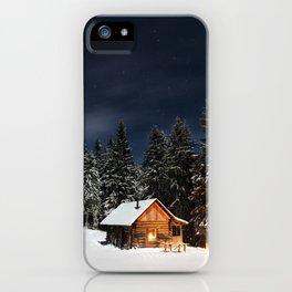 Cozy Cabin iPhone Case