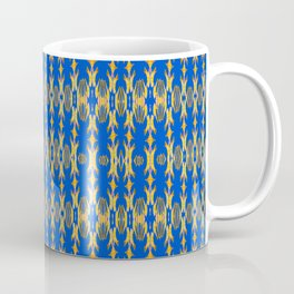 Trippy Tribal Texture Pulse Print Micro Pattern Coffee Mug