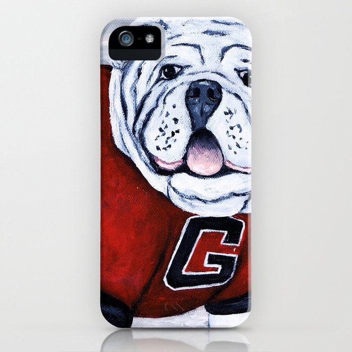 georgia bulldog uga x college mascot iphone case