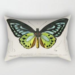 Green birdwing (Ornithoptera priamus) illustrated by Charles Dessalines D' Orbigny (1806-1876) Rectangular Pillow