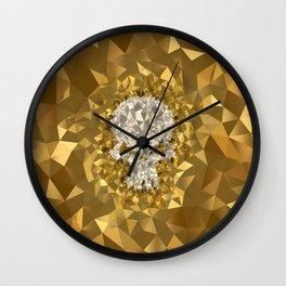 POLYNOID Skull / Gold Edition Wall Clock