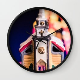 Christmas Chapel 2 Wall Clock