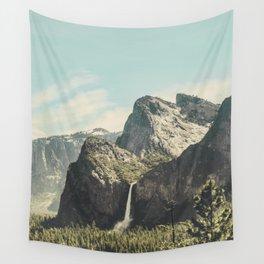 Yosemite Valley Waterfall Wall Tapestry