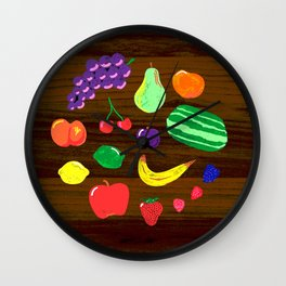 Mid-Century Fruit Wall Clock