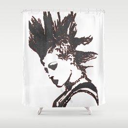 punk rocker girl Shower Curtain