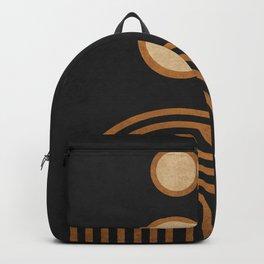 Secret Rambles - Minimal Geometric Abstract - Black Backpack