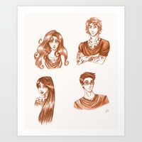 the mortal instruments Art Prints featuring The Moral Instruments by The Scarlet Pirate