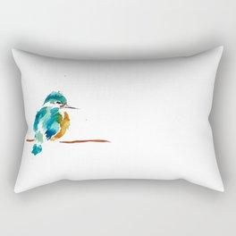 Golden Kingfisher Rectangular Pillow
