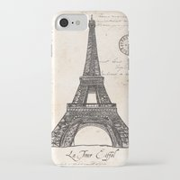 eiffel tower iPhone & iPod Cases featuring Eiffel Tower by Debbie DeWitt