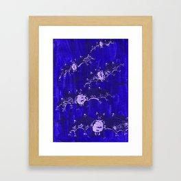 Blue Bats Framed Art Print