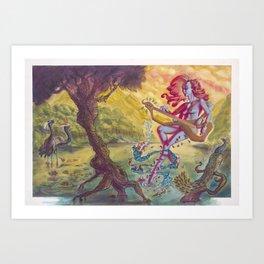 Saraswati, Goddess of the Arts Art Print